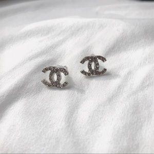 NWT Logo Silver Earrings
